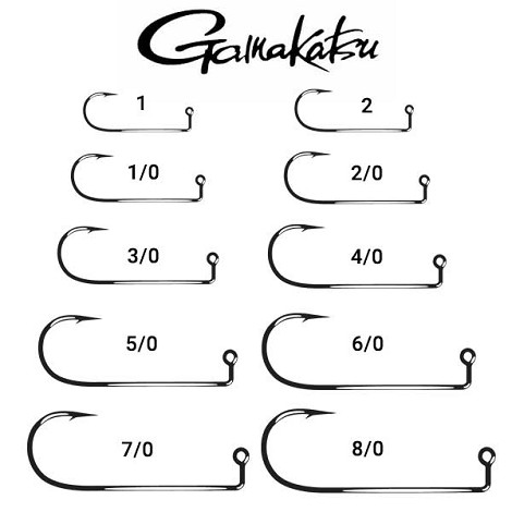 Gamakatsu 604 90 Degree Heavy Wire Fishing Hooks Nickel Silver (25)