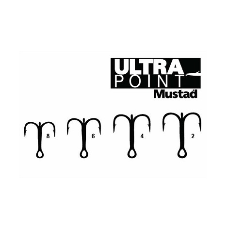 Mustad 36102BLN Ultra NP Treble<br>Black Nickel (11)