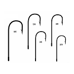 Mustad Style 32608N Needle Point Spinner Jig Hooks<br>Nickel (50)