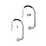 Eagle Claw 571 Short Shank Hooks - Bronze (1000)