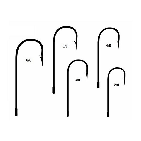 Mustad Style 32608N Needle Point Spinner Jig Hooks<br>Nickel (1000)