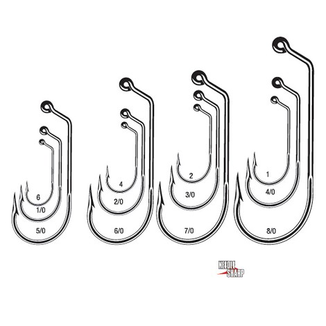 VMC 7161 ROUND JIG 60° Hooks<br>Tin Red (100)
