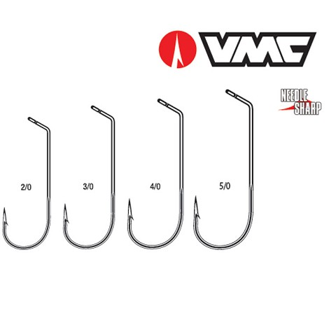 VMC 7218 Round Long Shank Jig 60° Rotated Eye<br>Black Nickel (1000)